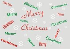 Bandera de la Feliz Navidad stock de ilustración