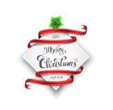 Bandera de la Feliz Navidad Fotos de archivo