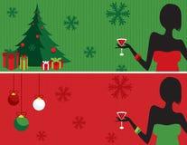 Bandera de la fiesta de Navidad Imagen de archivo libre de regalías