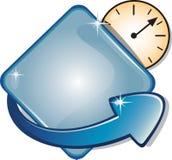 Bandera de la flecha y temporizador del reloj Imagen de archivo