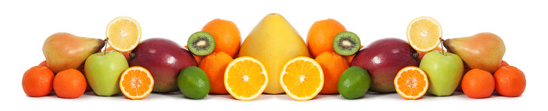 Bandera de la fruta de la comida