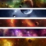 Bandera de la galaxia del espacio ilustración del vector