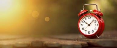 Bandera de la gestión de tiempo Fotografía de archivo libre de regalías