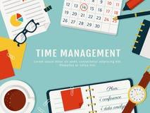 Bandera de la gestión de tiempo Vector el concepto background ilustración del vector