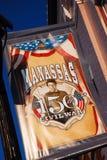 Bandera de la guerra civil de Manassass Imagen de archivo libre de regalías