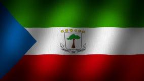 Bandera de la Guinea Ecuatorial ilustración del vector