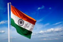 Bandera de la India imagen de archivo