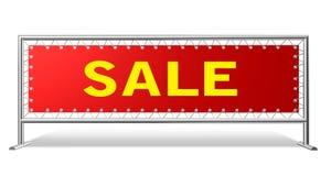Bandera de la información para la venta. 3D rinden. Foto de archivo libre de regalías