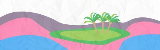 Bandera de la isla Imagen de archivo