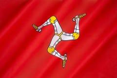 Bandera de la isla del hombre - bandera de la Isla de Man Imagen de archivo libre de regalías