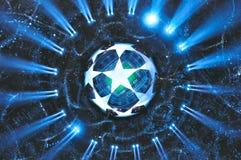 Bandera de la liga de campeones de UEFA Imagen de archivo libre de regalías