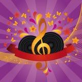 Bandera de la música Foto de archivo libre de regalías