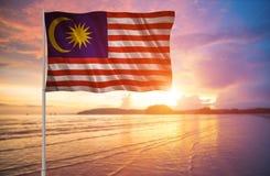 Bandera de la Malasia Foto de archivo