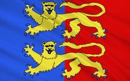 Bandera de la Mancha imagenes de archivo