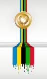 Bandera de la medalla de oro de los Juegos Olímpicos libre illustration