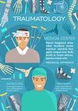 Bandera de la medicina de la cirugía del Traumatology y del trauma libre illustration