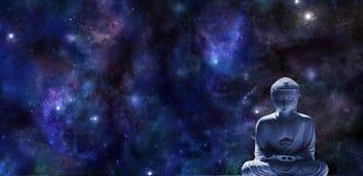Bandera de la meditación del Mindfulness imágenes de archivo libres de regalías