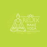 Bandera de la motivación de la yoga y del deporte del vector Imagenes de archivo