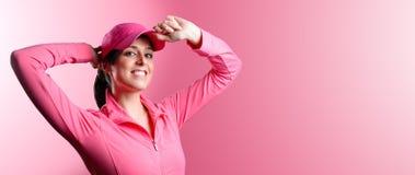 Bandera de la mujer de la aptitud y del deporte Imagen de archivo libre de regalías