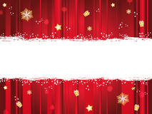 Bandera de la Navidad Imagenes de archivo