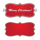 Bandera de la Navidad Fotos de archivo