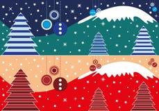 Bandera de la Navidad Fotografía de archivo