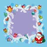 Bandera de la Navidad, plantilla Foto de archivo