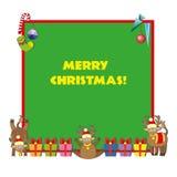 Bandera de la Navidad, plantilla Fotografía de archivo libre de regalías
