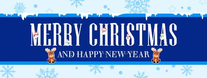 Bandera de la Navidad y del Año Nuevo stock de ilustración