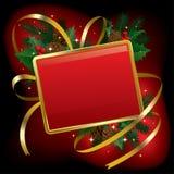 Bandera de la Navidad y del Año Nuevo Fotografía de archivo