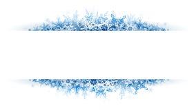 Bandera de la nieve de la Navidad foto de archivo libre de regalías