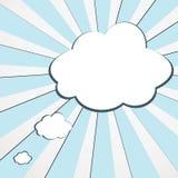 Bandera de la nube del vector para el texto Foto de archivo