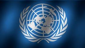 Bandera de la O.N.U stock de ilustración