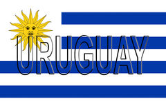 Bandera De La Pared De Uruguay Stock De Ilustración Ilustración De
