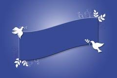Bandera de la paloma libre illustration
