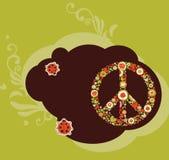 Bandera de la paz del Hippie Fotografía de archivo libre de regalías