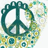 Bandera de la paz del Hippie Fotos de archivo libres de regalías