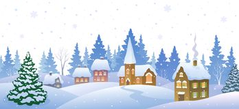 Bandera de la pequeña ciudad del invierno libre illustration