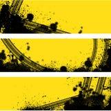 Bandera de la pista de tres neumáticos Imagen de archivo libre de regalías