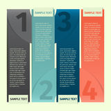 Bandera de la plantilla del diseño de Infographics stock de ilustración