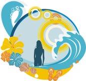 Bandera de la playa Foto de archivo libre de regalías