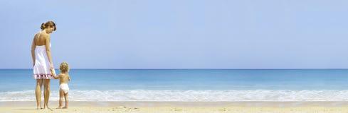 Bandera de la playa Imágenes de archivo libres de regalías