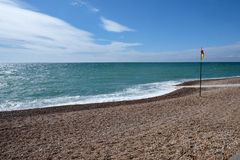 Bandera de la playa y de la natación de Brighton imágenes de archivo libres de regalías