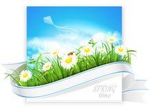 Bandera de la primavera stock de ilustración