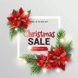 Bandera de la promoción de venta de la Navidad ilustración del vector