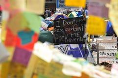 Bandera de la protesta Fotos de archivo libres de regalías