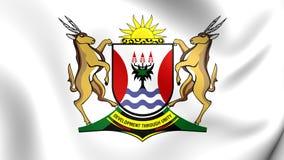 Bandera de la provincia de Eastern Cape, Suráfrica stock de ilustración