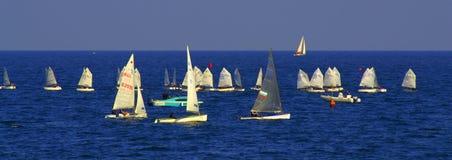 Bandera de la regata de los veleros Imagen de archivo libre de regalías