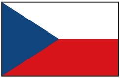 Bandera de la República Checa Foto de archivo