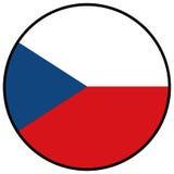 Bandera de la República Checa Imagen de archivo